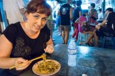 Me eating Penang Street food