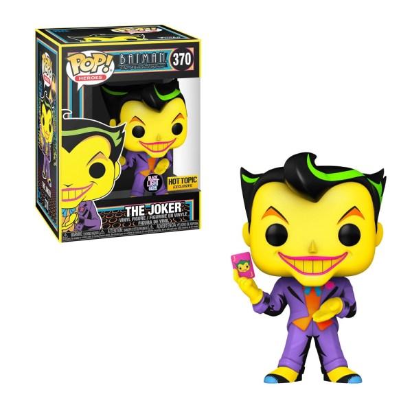 funko pop dc batman the animated series joker blacklight hot topic