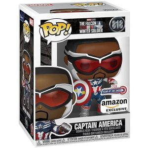 Funko Pop Marvel The falcon and the winter soldier Captain America Amazon Exclusive