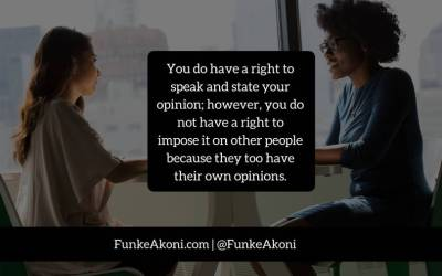 Your opinion is personal; don't impose it on others