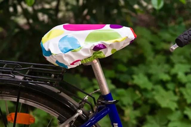 Anleitung - Sattelschutz fürs Fahrrad nähen