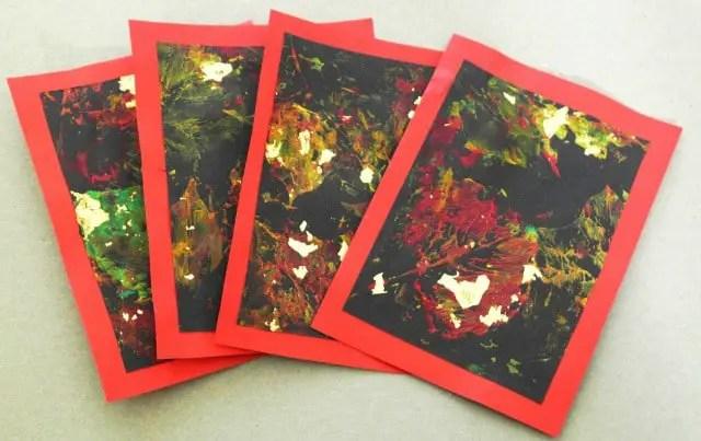 DIY Einladungskarten mit Blättern stempeln
