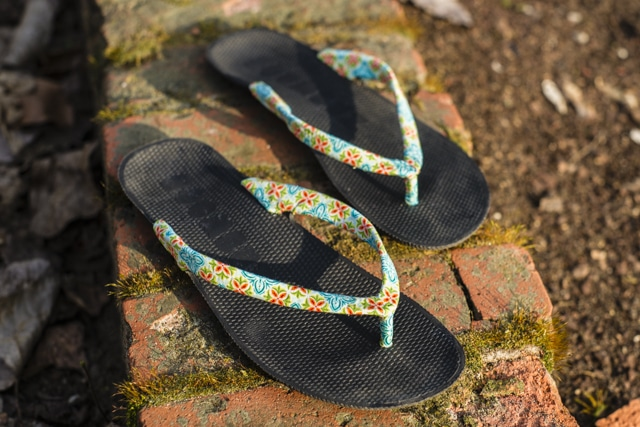 Upcycling Flip-Flops - Schuhe selbst gestalten