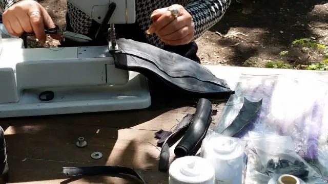 Upcycling Taschen aus alten Fahrradschläuchen