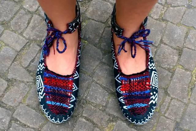 DIY Schuhe mit Webeinlage