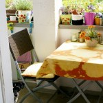 DIY – Stoff mit Chlor bleichen für einen sommerlichen Balkon