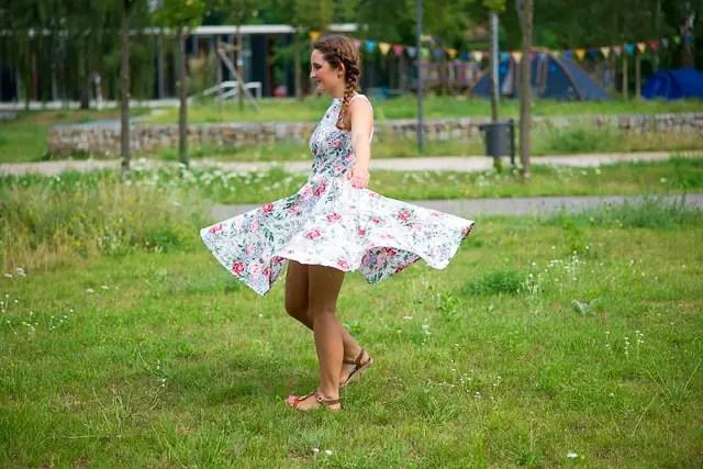 Sommerkleid genäht nach Schnittmuster