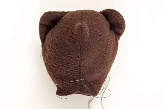 Teddybär nähen - Kopf annähen
