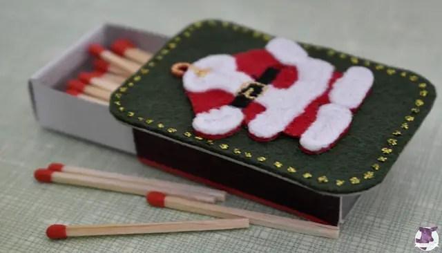 DIY Anleitung - Streichholzschachteln mit Weihnachtsdeko verschönern - Dekoideen Weihnachten