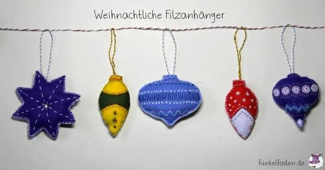 DIY - Weihnachtliche FIlzanhänger näehn