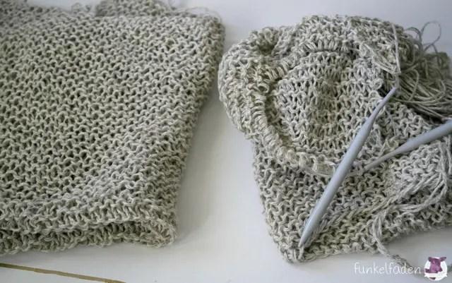 Einen ersten Pullover stricken