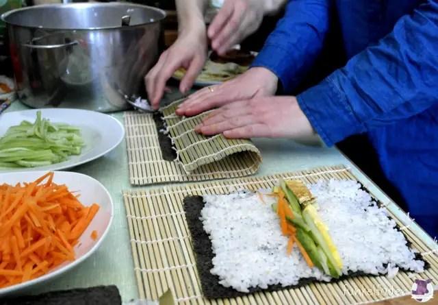 Anleitung vegetarisches Sushi selber machen