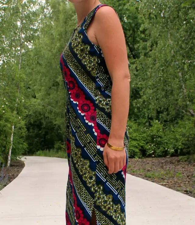 Nähanleitung für einfaches langes Kleid