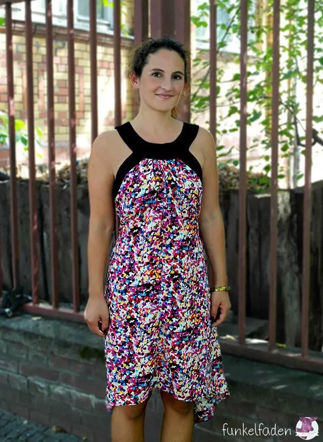 Genäht - Sommerkleid mit Bindegürtel