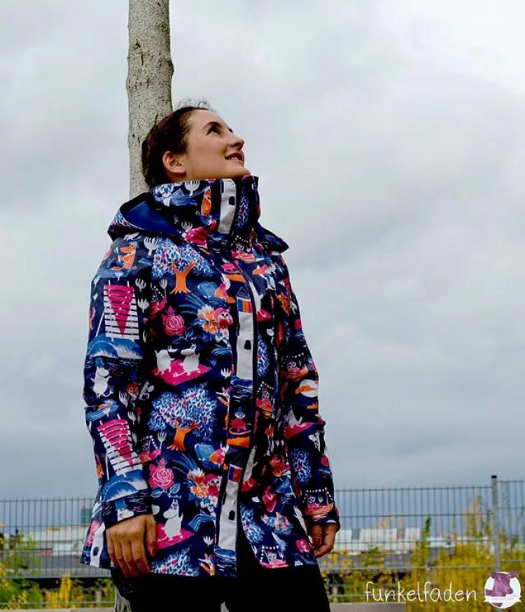 Selbstgenähte Regenjacke Minoru Jacket
