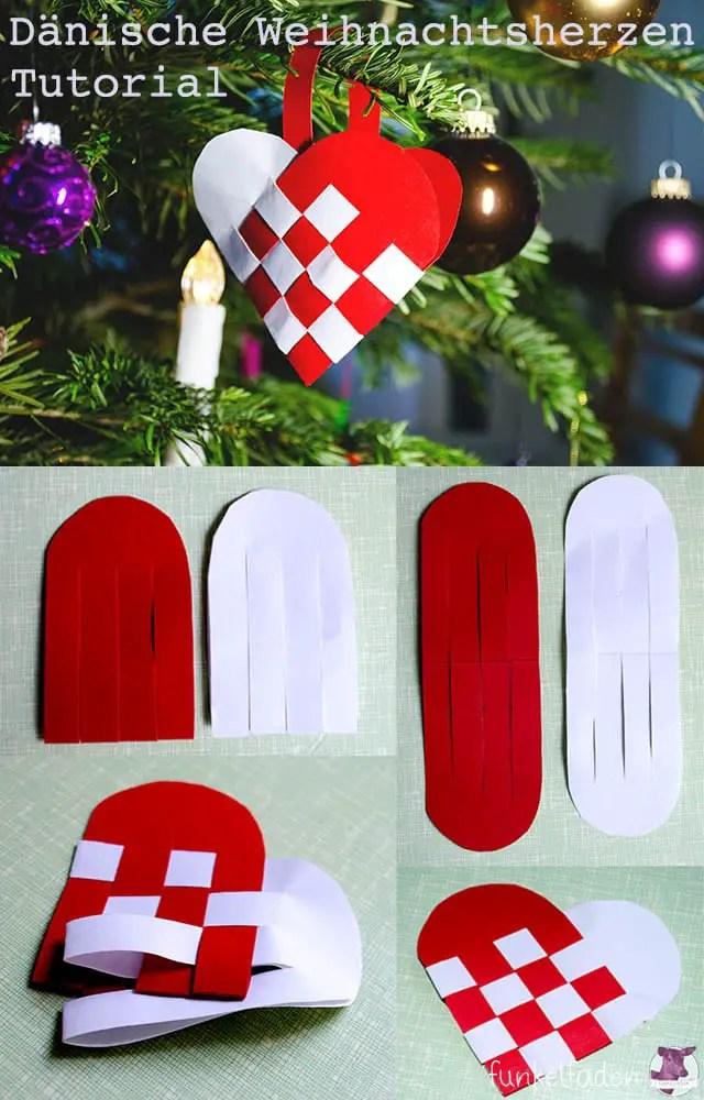DIY Tutorial - Anleitung Dänische Weihnachtsherzen basteln