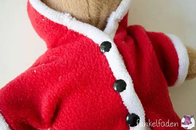 Weihnachtsbär nähen kostenfreie Nähanleitung