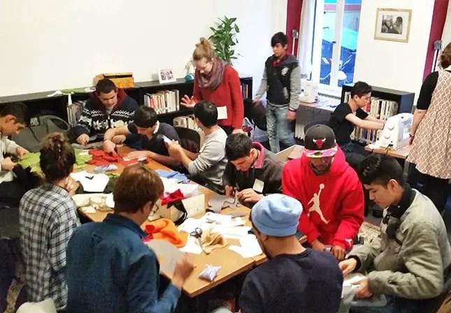 Nähen mit Flüchtlingen in Berlin