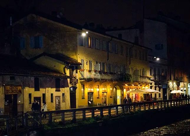 Ausgehen in Mailand - Naviglio grande