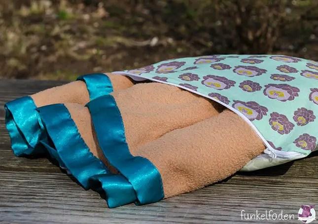 Nähanleitung - Beschichtetes Outdoorkissen mit Decke