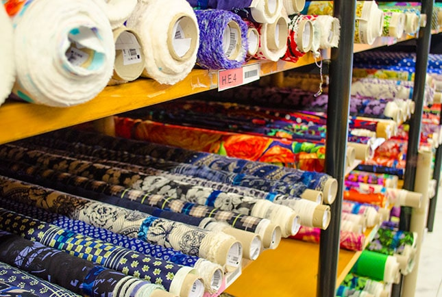 Stoffläden in Italien / Fabric Store Italy