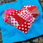 Crazy Patchwork Herz für die Patchwordecke