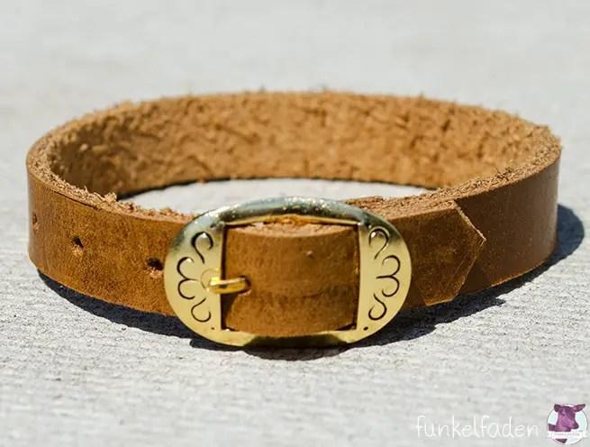 DIY Anleitung - Lederarmband mit goldener Schnalle