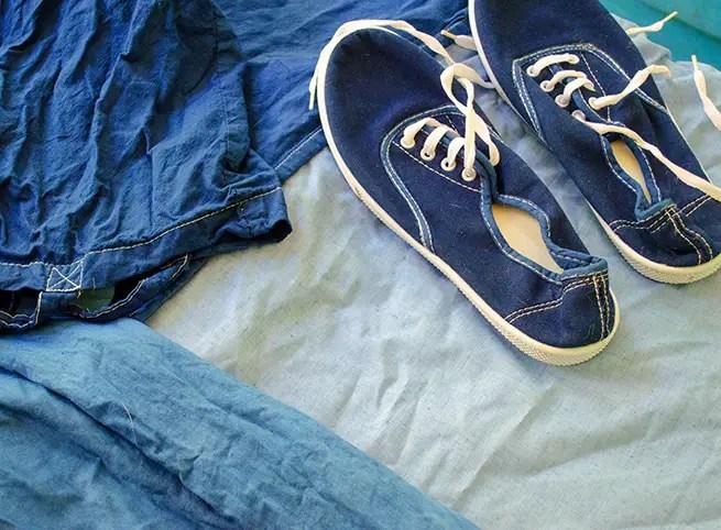 Schuhe färben in der Waschmaschine
