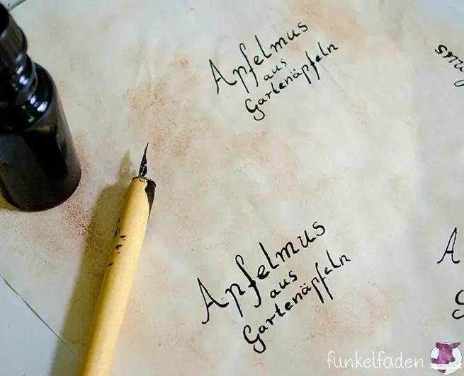 Kalligraphie - Schöne Etiketten für Einmachgläser