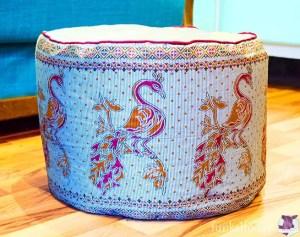 Sitzpuff nähen aus einem Sari