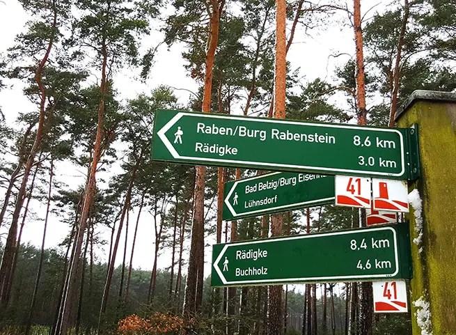 Wandern im Fläming / Brandenburg - Burgenroute