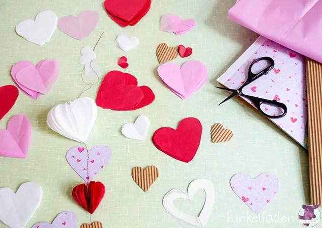 Anleitung - Deko für Valentinstag und Hochzeit basteln