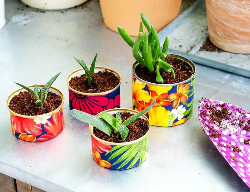 Upcycling - DIY Blumentöpfe selber machen