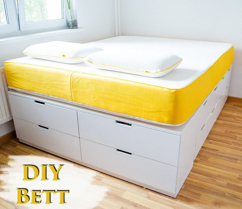 diy ikea hack bett selber bauen anleitungen do it. Black Bedroom Furniture Sets. Home Design Ideas