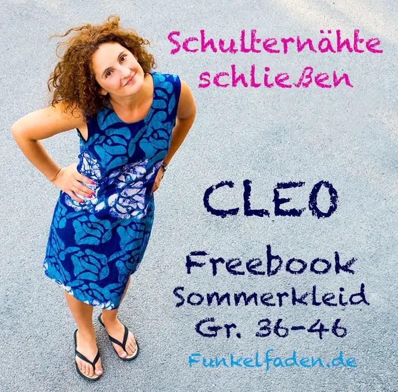 Schulternähte schließen - Freebook Sommerkleid