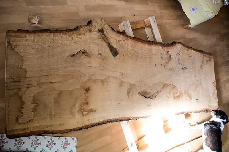 Anleitung - Designertisch aus Holz selber bauen