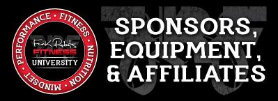 Sponsors, Equipment, & Affiliates