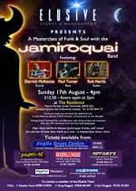 Locandina del masterclass dei componenti dei Jamiroquai del 17 Agosto