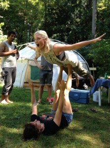Though there was much less acrobatics this year, it WAS the first time I got involved.
