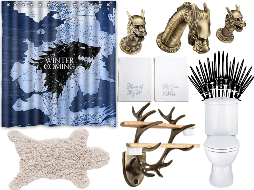 game of thrones bathroom from Funk in Deep Freeze