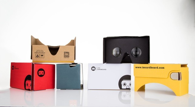 I AM CARDBOARD virtual reality simulator for gift swap
