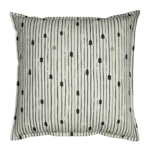 I also bought two of these Tree Stripe Decorative Pillow -- turned on their sides, they're not trees, they're arrows!