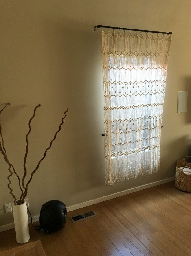 macrame window treatment