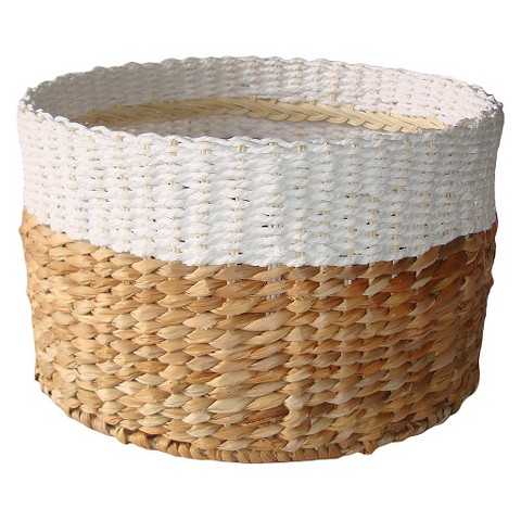 White and Natural Woven Basket from Target.