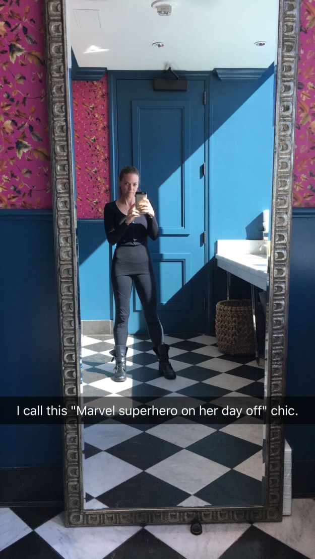 marvel super hero on her day off