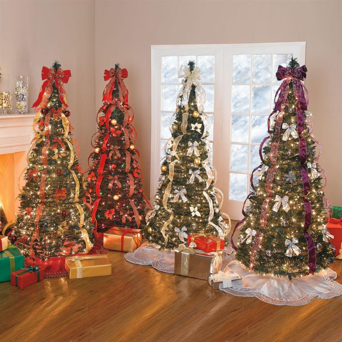 Discount Pre Lit 12 Christmas Tree: Pre Lit Pull Up Christmas Trees For Funk'N Simplicity
