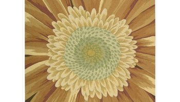 funky cheerful sunflower area rugs cheerful home office rug