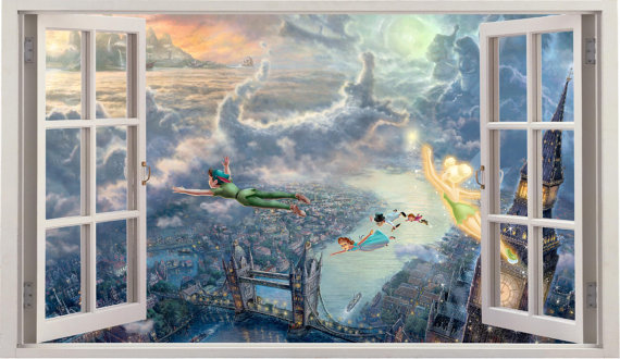 Creative Funku0027N Art With Peter Pan Wall Quotes