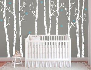 White Birch Tree Wall Decal