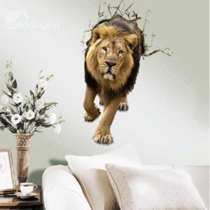 3D Lion Wall Decal